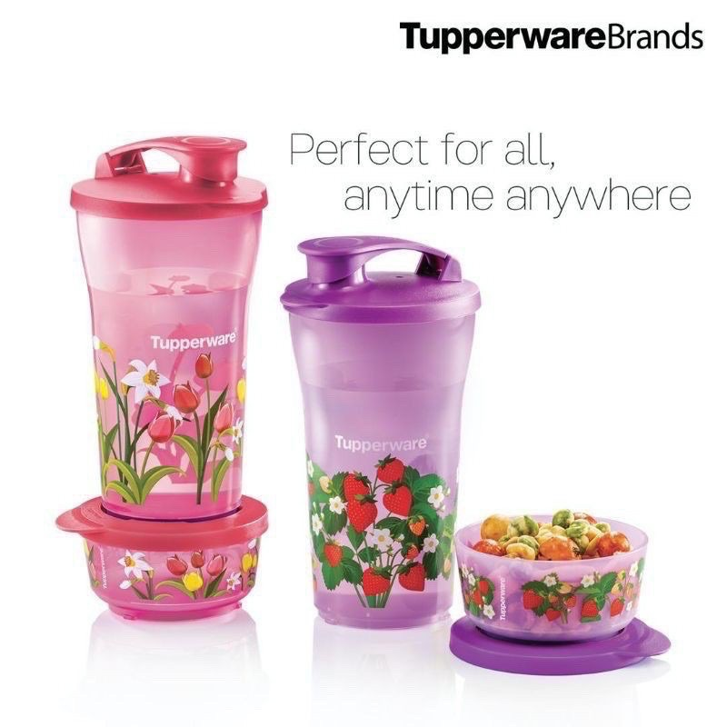 Tupperware Quench & Snack Set