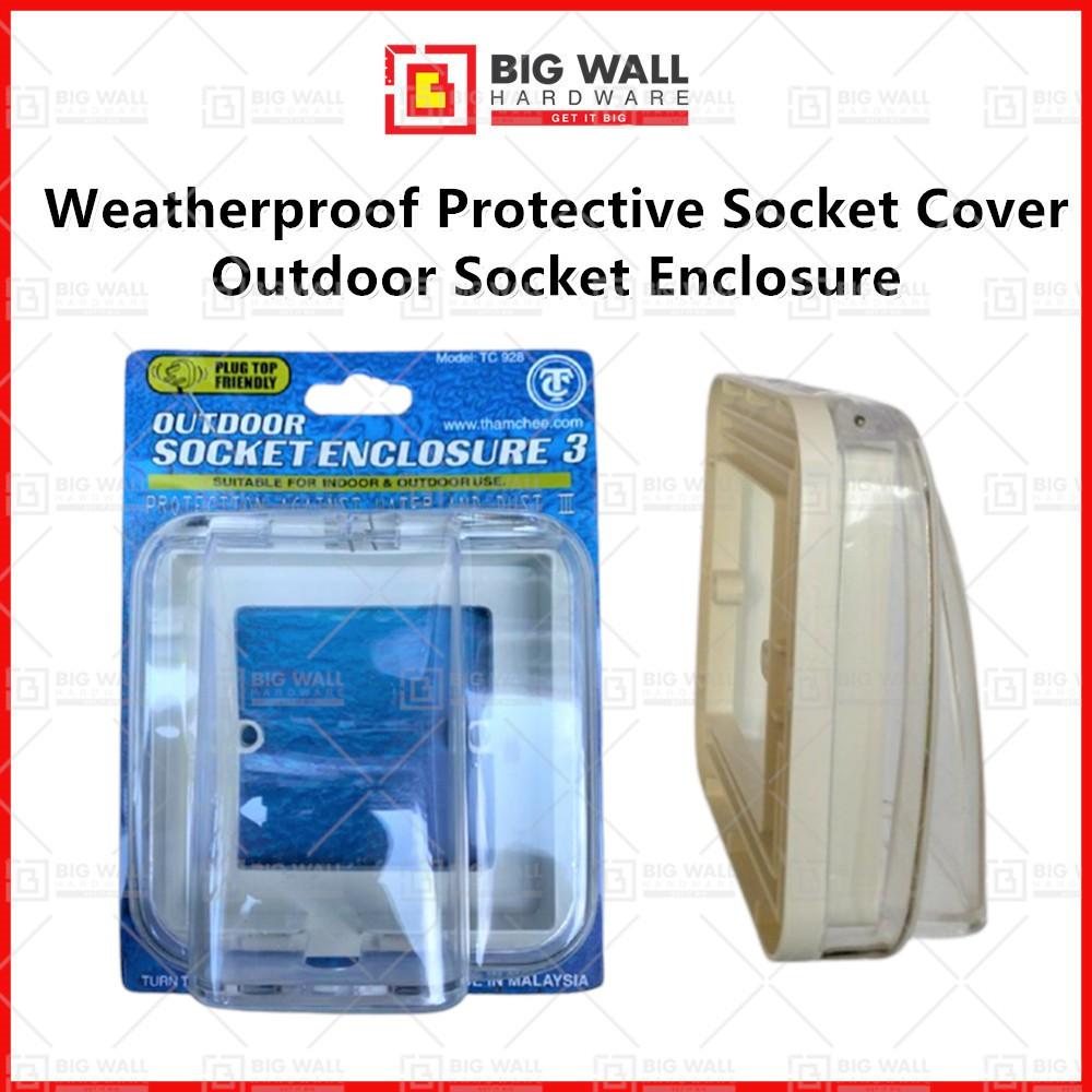 New TC928 Waterproof / Weatherproof Protective Socket Cover Outdoor Socket Enclosure for Door Bell Switch Big Wall Ha
