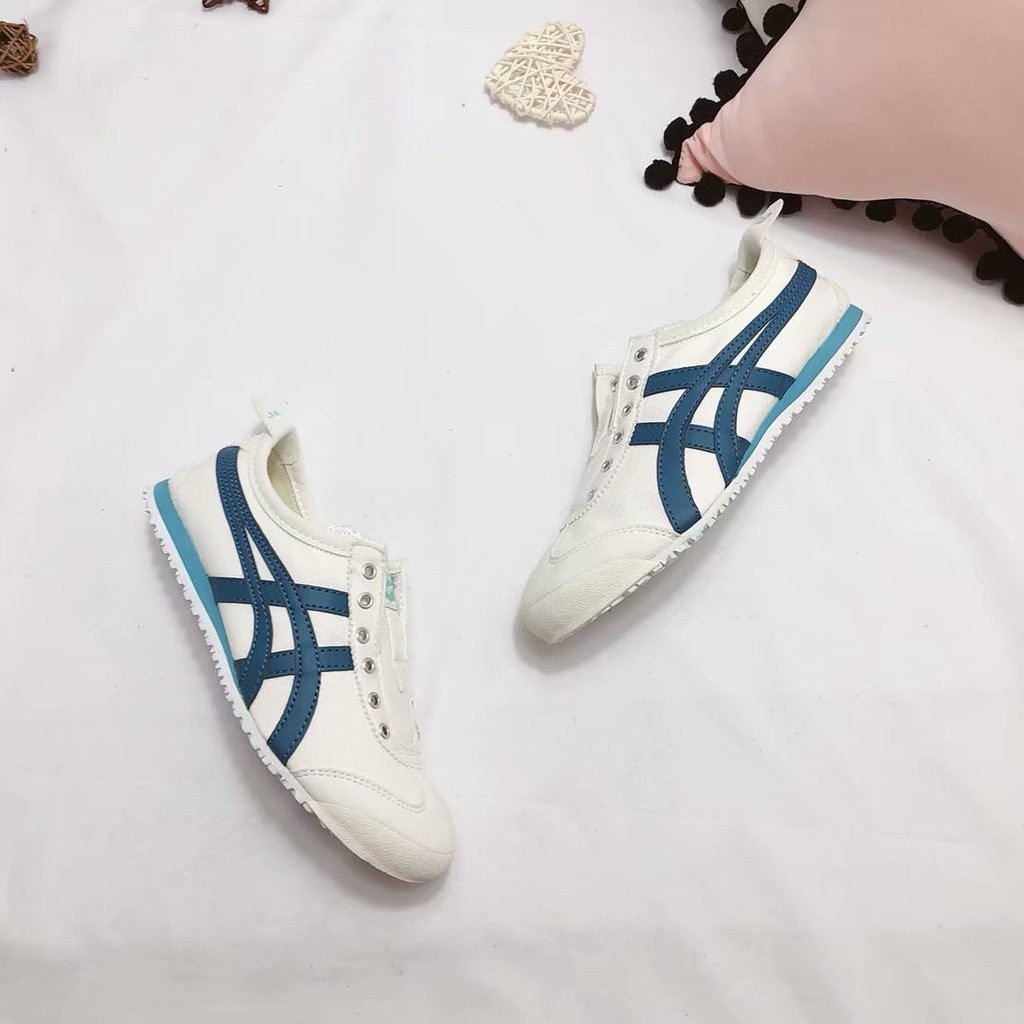buy popular d160f c82ee 2018 Asics Onitsuka Tiger canvas shoes classic lake blue casual running  shoes