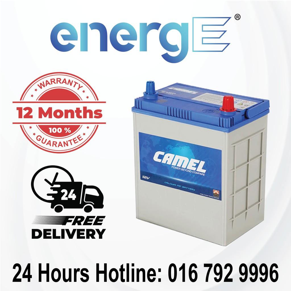 Camel NS40ZL (40B19L) Maintenance Free Car Battery for