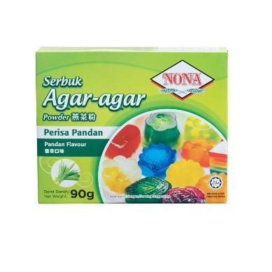 NONA Serbuk Agar-Agar Powder - Perisa Pandan @ 90g ( Free Fragile + Bubblewrap Packing )