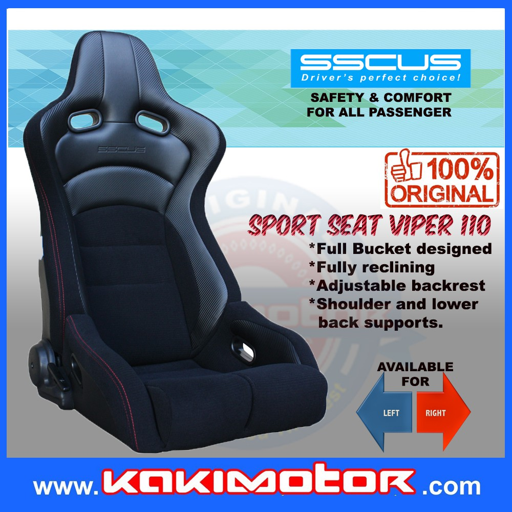 [1 Pair]SSCUS Sport Seat Viper 110 - Black(EXCLUDE SLIDER)