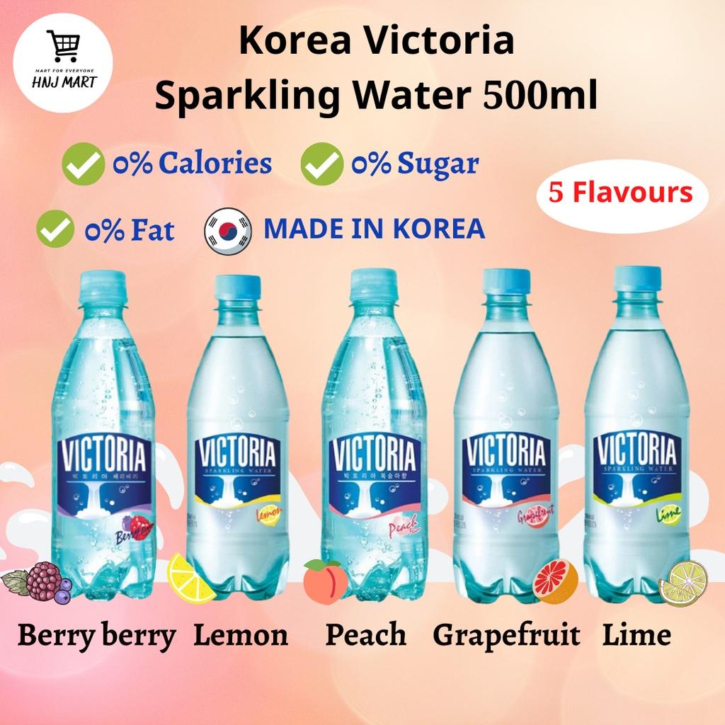 Korea Woongjin Victoria Sparkling Water 500ml [Lemon/Lime/BerryBerry/Peach/Grapefruit] Sparkling Soda Carbonated Drink