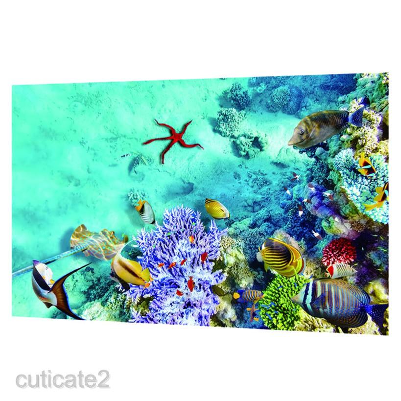 Aquarium Background Fish Tank Wallpaper Sticker Background Decor Shopee Malaysia
