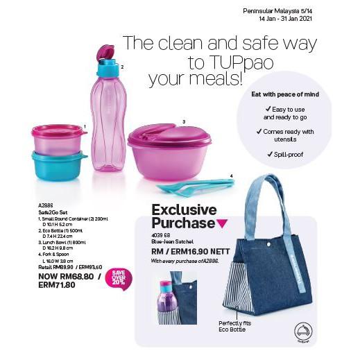 (New) Tupperware Safe2Go Set
