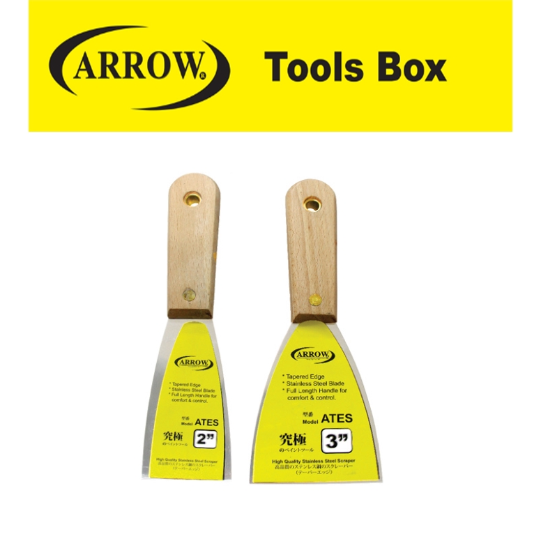 ARROW ATES SERIES STAINLESS STEEL SCRAPER  EASY USE SAFETY GOOD QUALITY