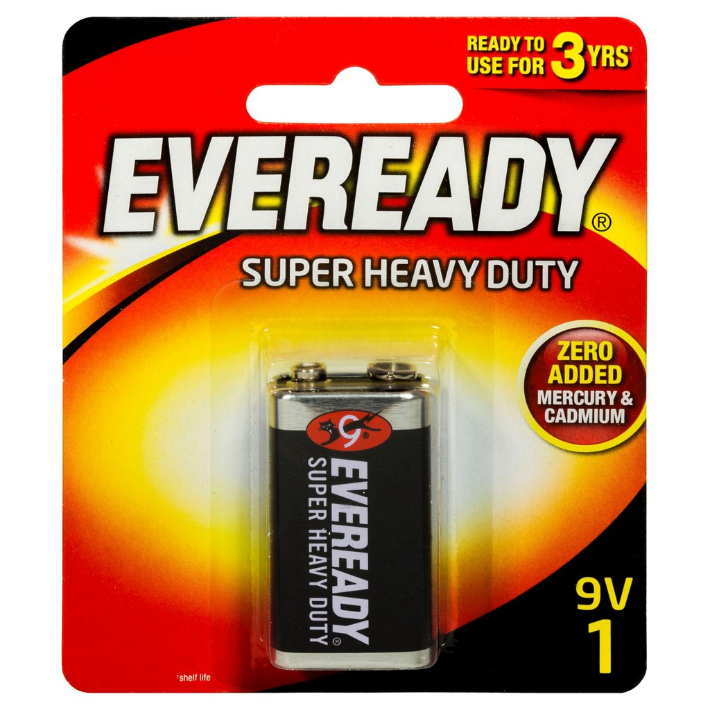 12 Pack EVEREADY BATTERY 1222 9V Heavy-Duty Battery
