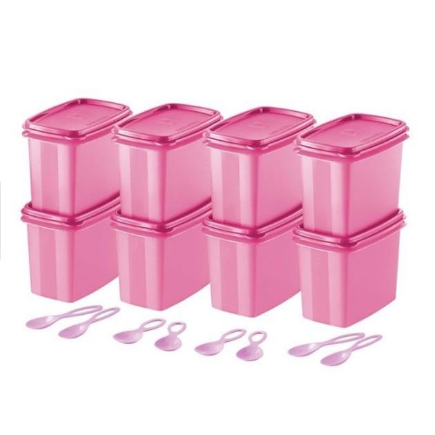 READY STOCK Tupperware Pink Shelf Savers with Spoon 840ml