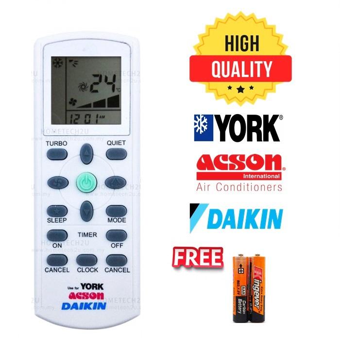 Air Conditioner Remote Control for Daikin / York / Acson