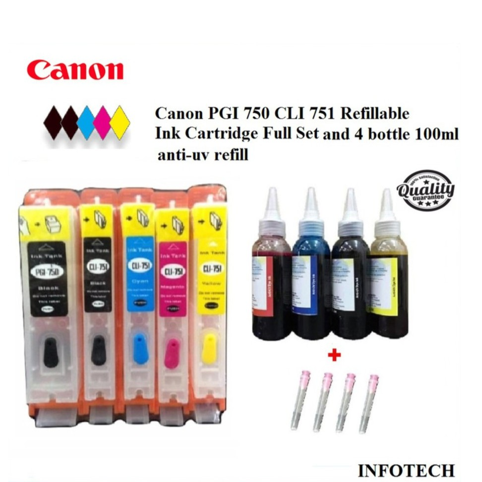 Pgi 750 Cli 751 Full Ink Cartridge For Canon With Auto Reset Chips Yellow Xl Shopee Malaysia