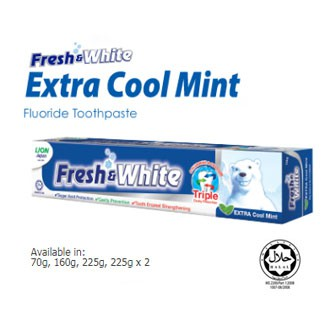 Fresh And White Triple Cavity Protection Fluoride & Calcium toothpaste 160g