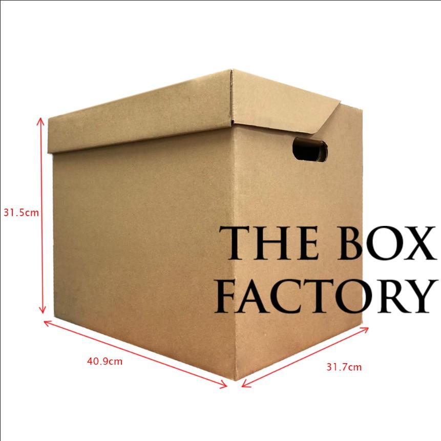 READY STOCK 5 PCS ARCHIVE BOX Die-cut Brown File Filing Box Carton Box Big Carton Box Packaging Packing Box Kotak