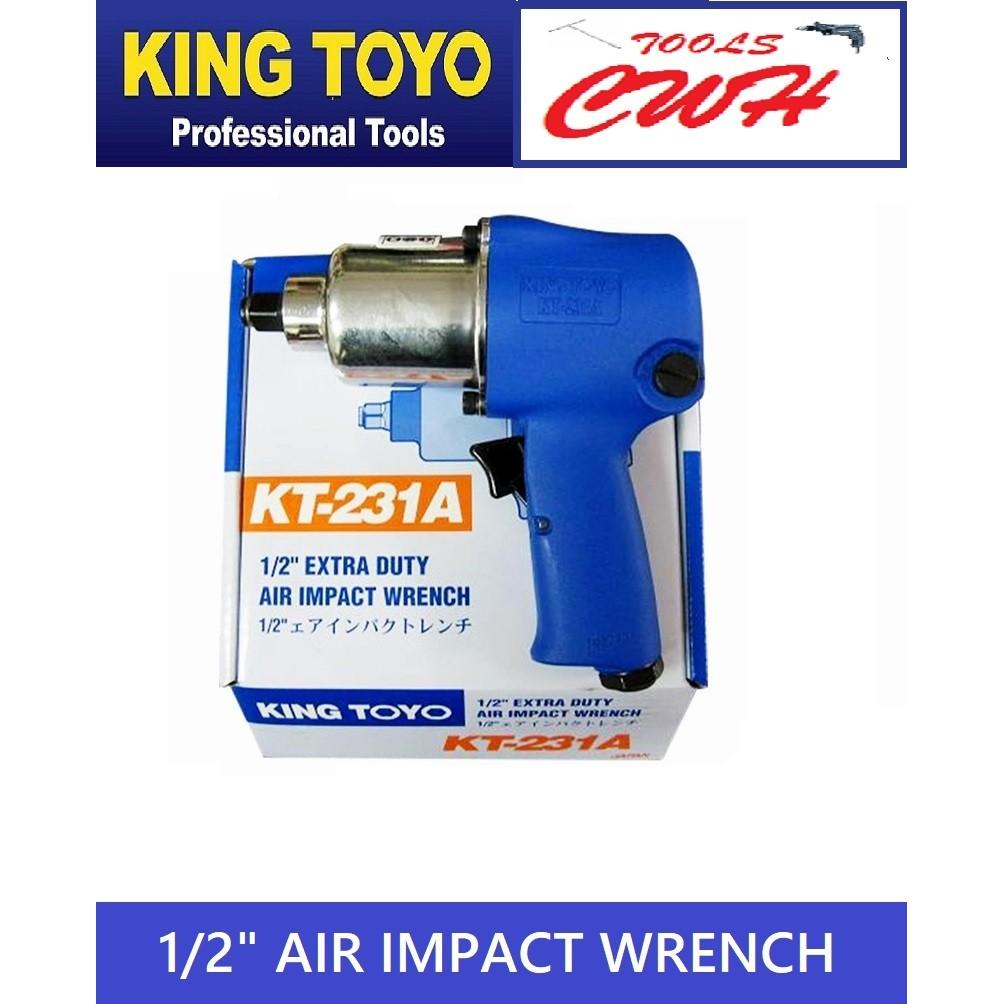 KTIW-231A 1/2in King Toyo Air Impact Wrench KT231A Twin Hammer STANLEY MAKITA BOSCH TAKIRO SATAGOOG SATA
