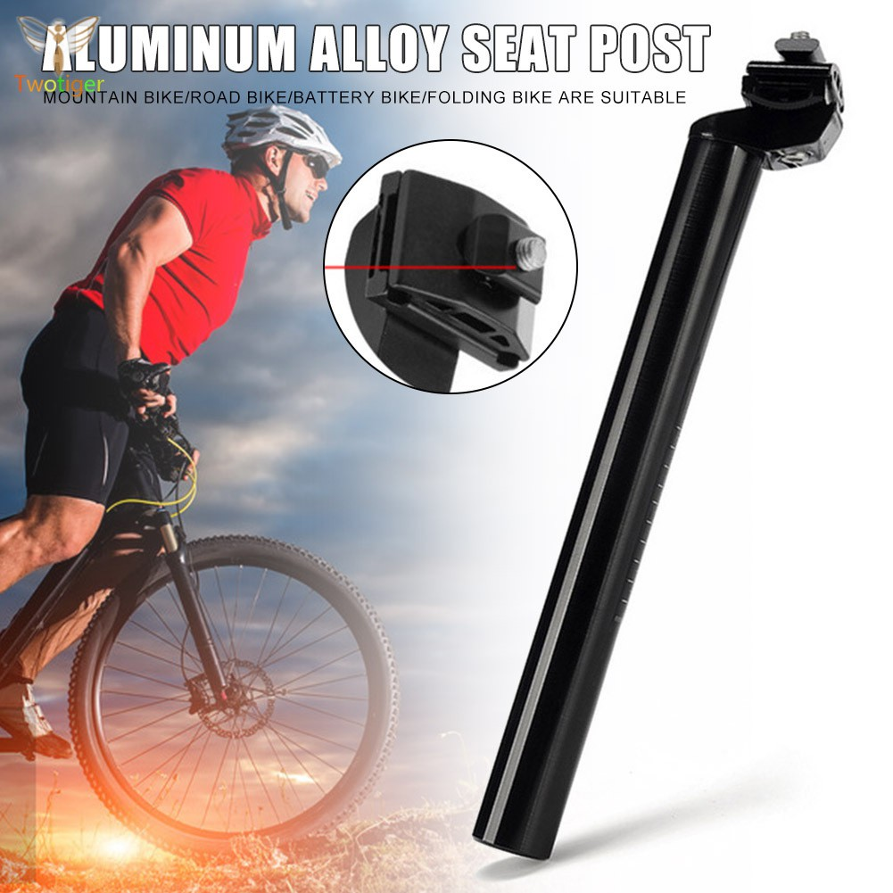 350mm 450mm Seatpost Aluminium Adjustable Head MTB Road Bicycle Seat Post Details about  /