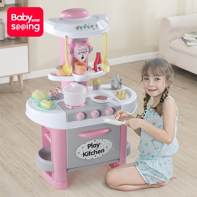 Children S Toys 4 Girls 5 Play House Kitchen Cooking Set Combination Girl 3 6 Years Old 7 Christmas Birthday Gift Shopee Malaysia