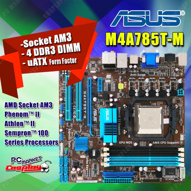 Asus M4A785T-M Socket AM3 Desktop Motherboard 785T M4A785T-M DDR3