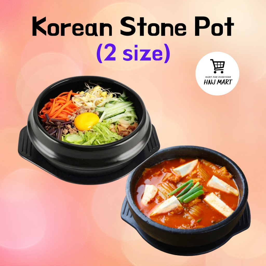 Dolsot Korean Stone Pot/Bibimbap Bowl/Dukbbaegi/Ramen/Soup Bowl 韩国石锅拌饭专用石锅煲仔饭