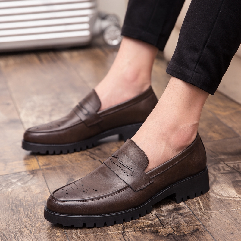 New Mens Leather Dress Formal Lace Up Mules Clog Slippers Backless Penny Loafers
