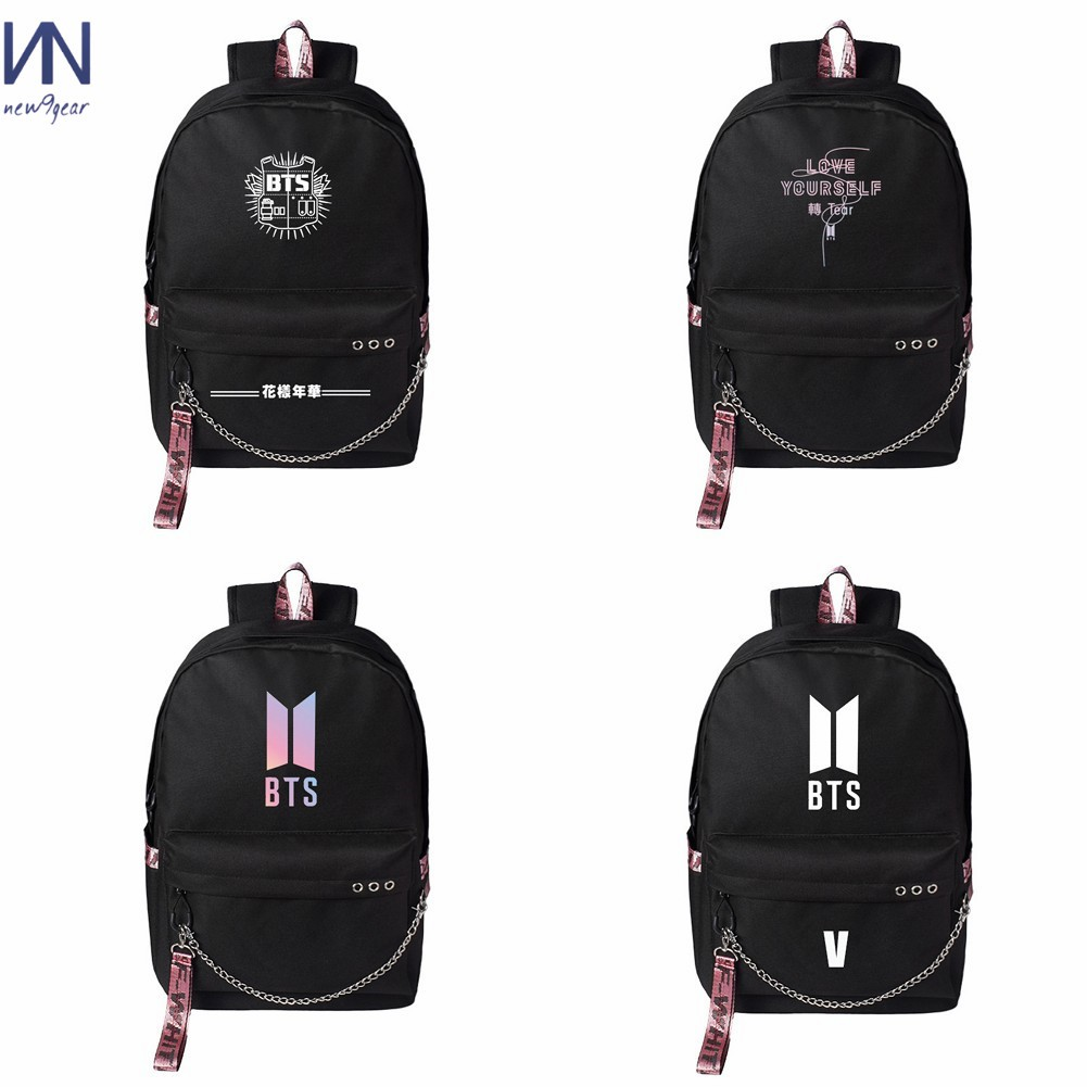 Backpacks Seventeen 17 Korean Stars Black Backpack Bag School Book Bags Laptop Boys Girls Back To School Gift Casual