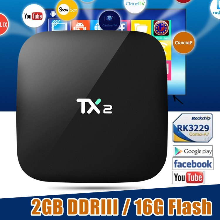 TX2 Android TV Box 2G Ram 16G Rom Set Top Box Android 6 0 IPTV Box WIFI