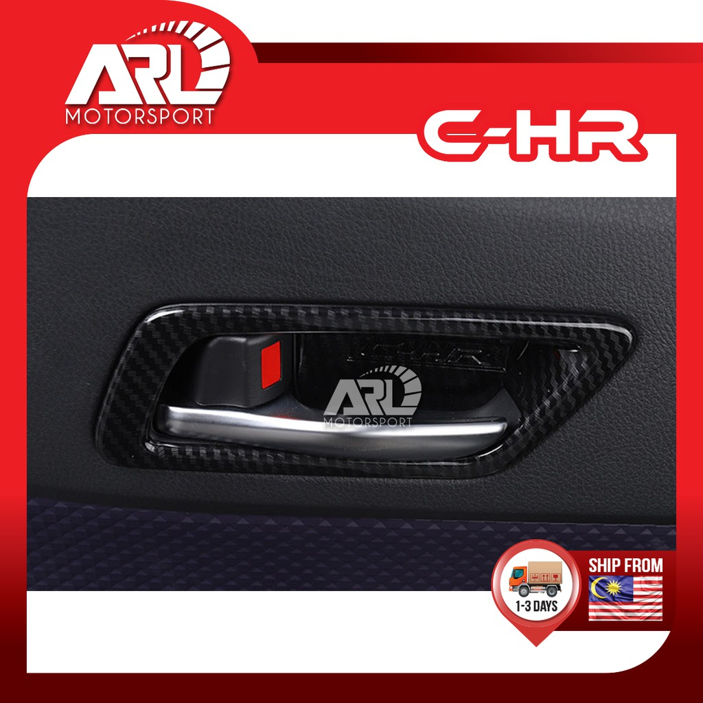 Toyota CHR/C-HR (2018 - 2020) ZGX11R Inner Handle Cover Carbon Fiber With Logo Car Auto Acccessories ARL Motorsport