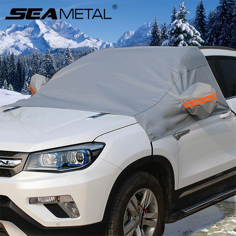 Winter Car Cover >> Universal Car Covers Auto Peva Front Windscreen Cover Snow Proof Waterproof Dustproof Sunproof Summer Winter Accessories