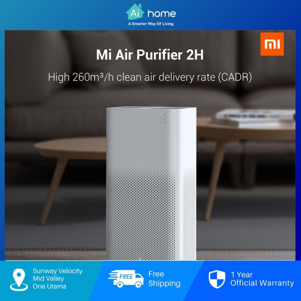 Xiaomi Mi Air Purifier 2H - True HEPA Filters   31dB(A) Ultra-low Noise   Smart Control by App   AQI Monitoring [Aihome]