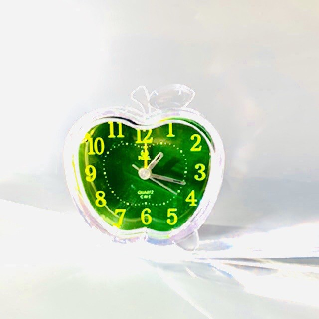 Pearl Transparent Table Travelling Alarm Clock Snooze And Quiet Sweep