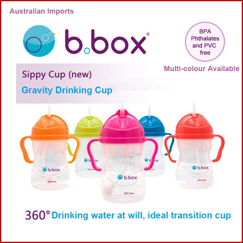 B.BOX Sippy Cup Apple 6m 240ml Baby Toddler Drinking Bottle