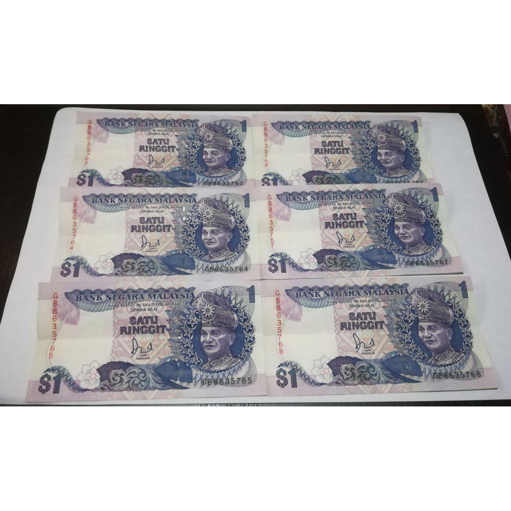 8pc Satu Ringgit Following Prefix Number 63-70 (AUNC)