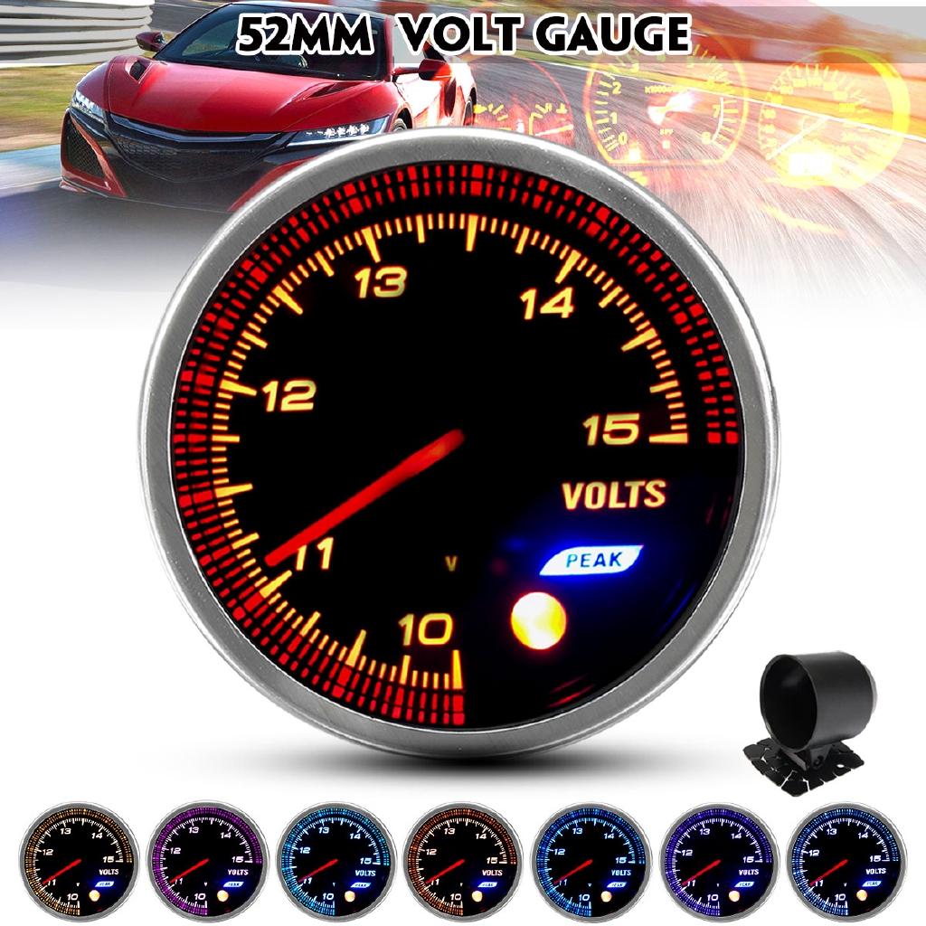 2 Inch 52mm BLACK CAR MOTOR DIGITAL BLUE LED VOLT VOLTAGE GAUGE METER 0-15V