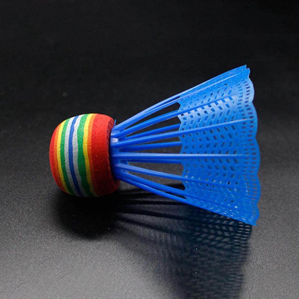 Badminton Shuttlecock Rainbow Head Nylon Ball Plastic Feather Training Materials