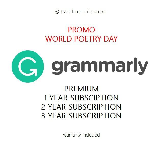 Grammarly Premium Account 1-3 Years (Warranty)