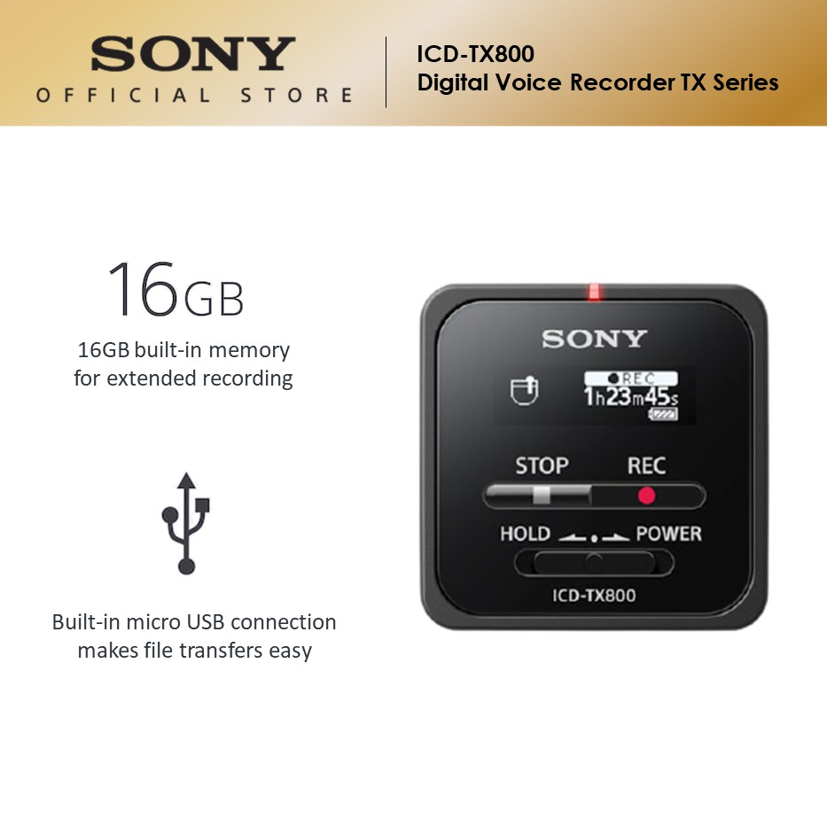 Sony ICD-TX800 Digital Voice Recorder TX Series