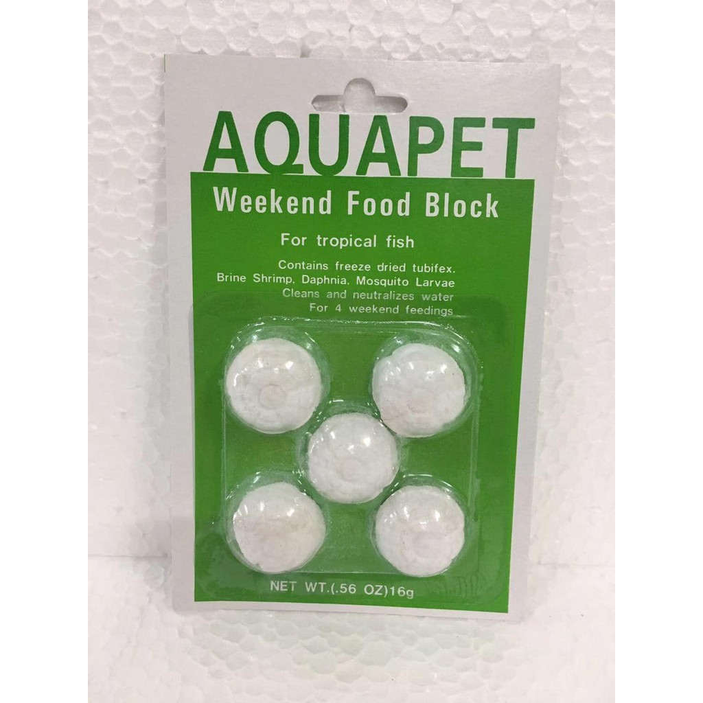 Aquapet Weekend Holiday Food Block for Tropical Fish