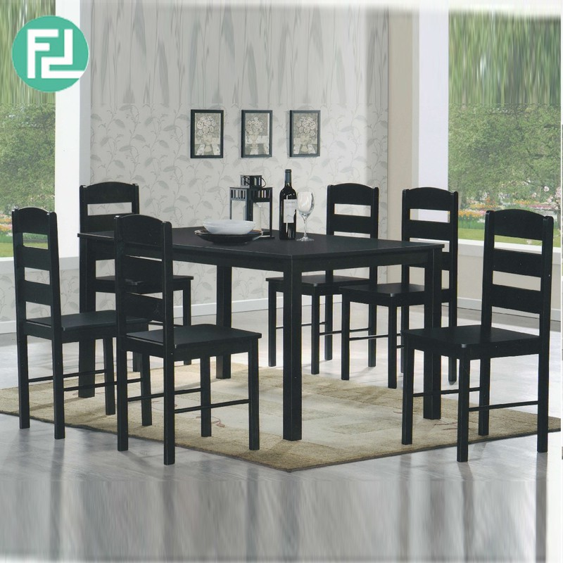 GL678 4-6 seater solid dining set- Cappuccino