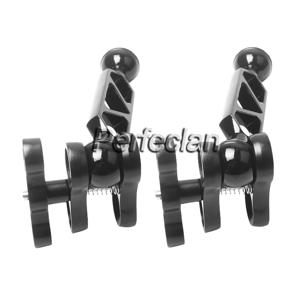 2X Underwater Dive Ball Join Connector Clamp Mount Arm for Flashlight Camera