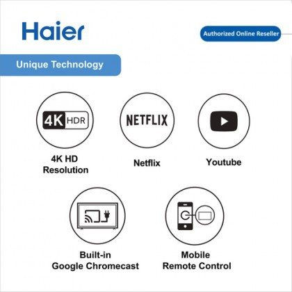 Haier 55 Inch LE55K6600UG 4K Ultra HD Smart Android TV