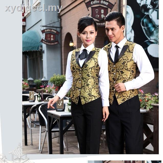 Work Uniforms Ktv Hotel Bar Attendant Majiaxi Restaurant Catering Waiter Work Clothes Night Wear Uniform Vest Shopee Malaysia