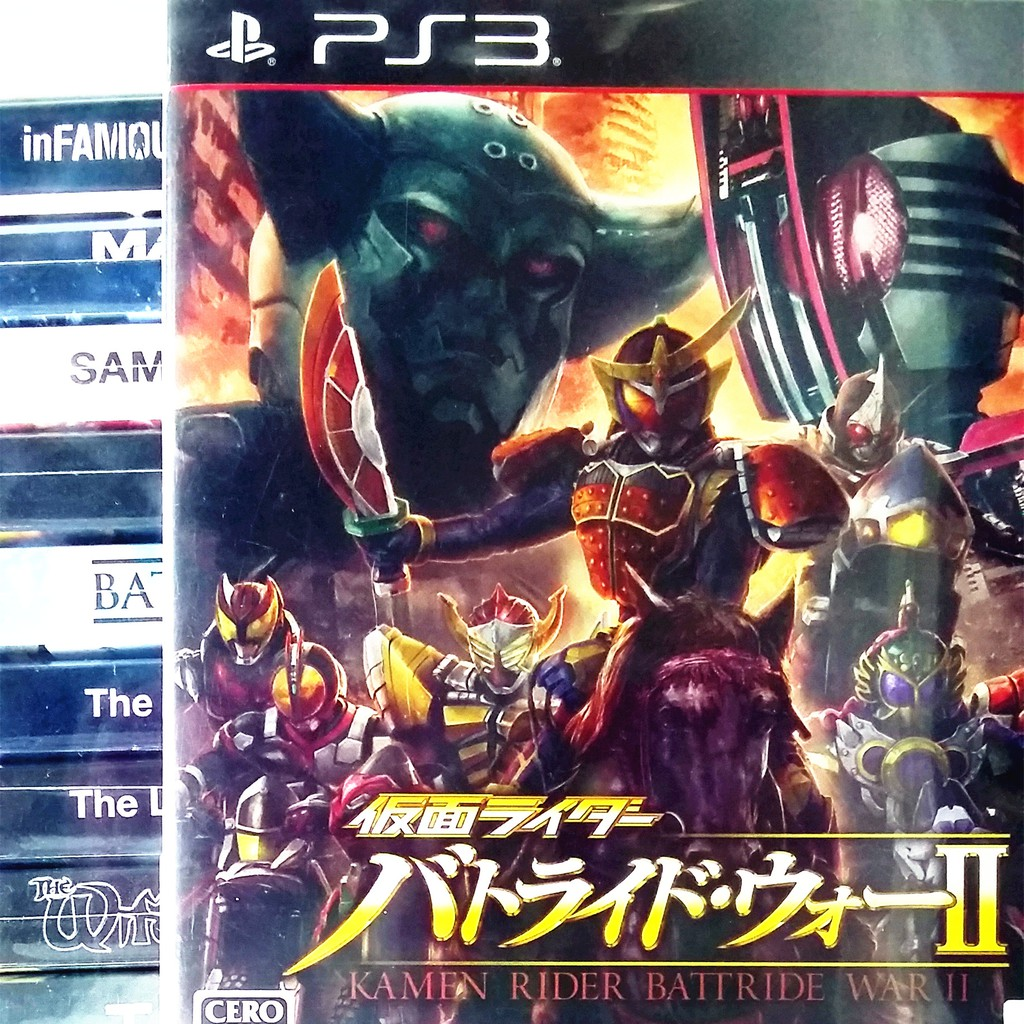 [THIS IS DISC] PS3 KAMEN RIDER BATTRIDE 2 WAR Sony Bandai Namco Beat 'Em Up  Game
