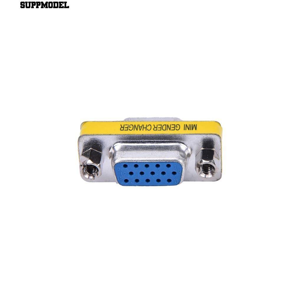 VGA HD15 Female to HD15 Female Mini Gender Changer Adapter