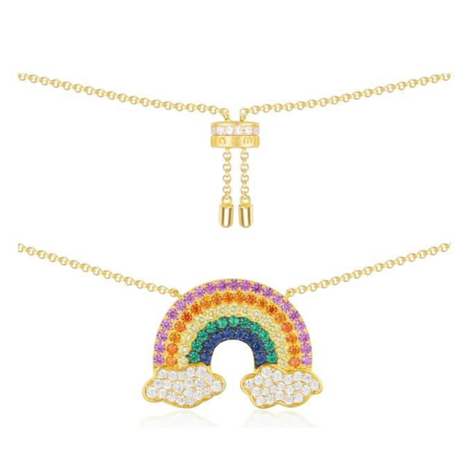 f873a068f APM Monaco Golden Yellow Rainbow Necklace Clavicle Chain Design ...