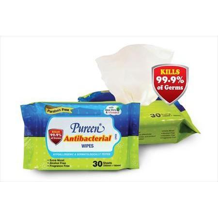 Pureen Antibacterial Wipes (2 x 30\'s)