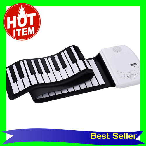 Portable 61 Keys Roll Up Piano Digital Piano Keyboard Flexible Soft Silicone Electronic Piano Keyboard Recharge Battery