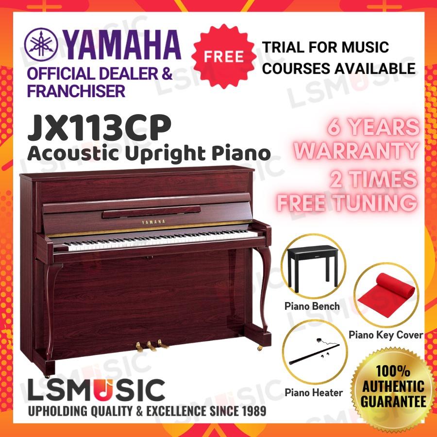 Yamaha Acoustic Piano JX113CP PM Upright Piano ( JX113 CP / JX 113-CP ) Open Unit - Polished Mahogany