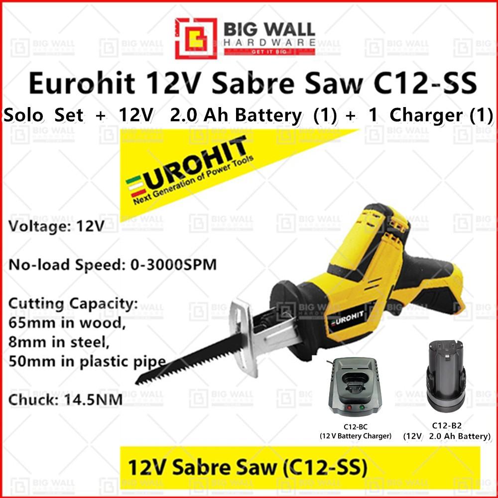Eurohit 12V Sabre Saw C12-SS Big Wall Hardware