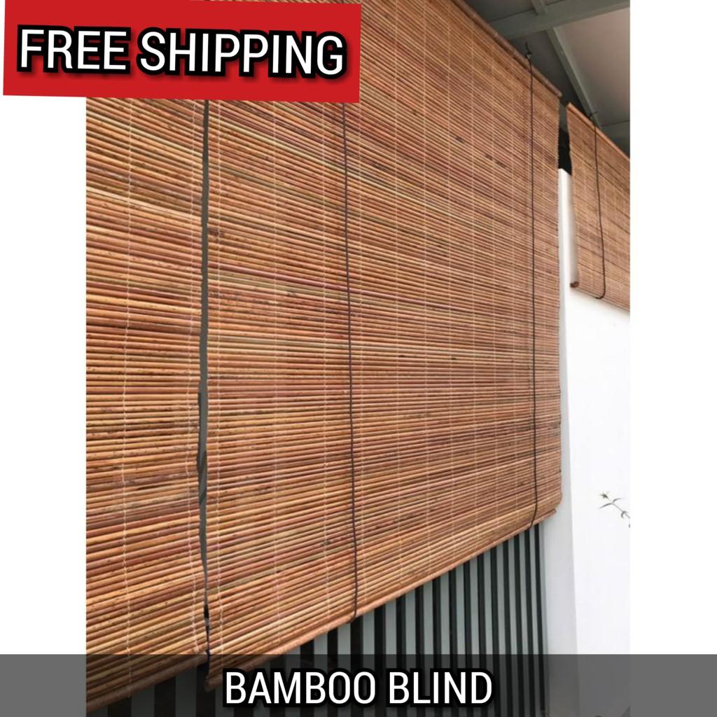 Bamboo Blinds W X H Outdoor Natural Bidai Buluh 户外竹帘 Shopee Malaysia