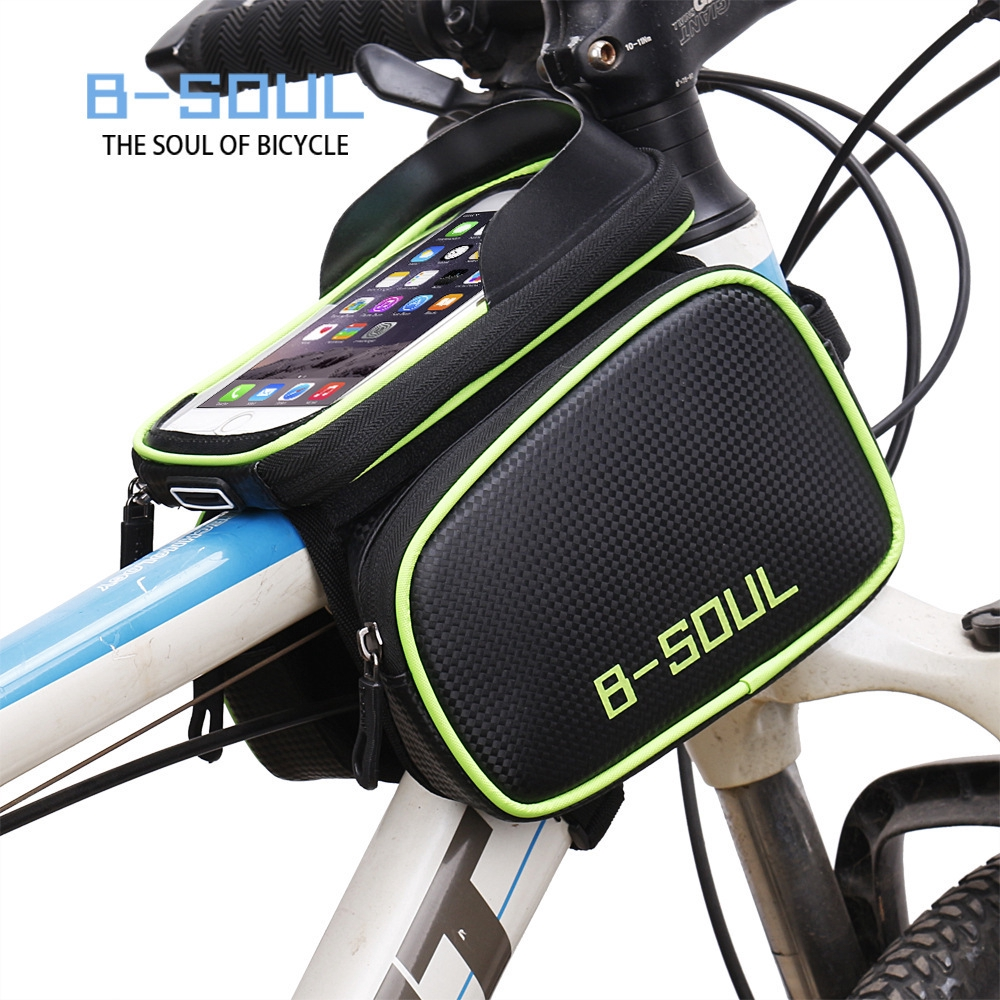 B-SOUL Bicycle Front Beam Bag Waterproof Mountain Bike Saddle Bags Phone Bag New