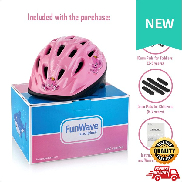 3-7 Years Old Kids Bicycle Helmet CSPC Safety and Comfort