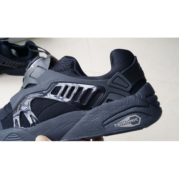 098449507e3 real picture PUMA DISC BLAZE R698 all black oreo low top shoe for men women  shoe